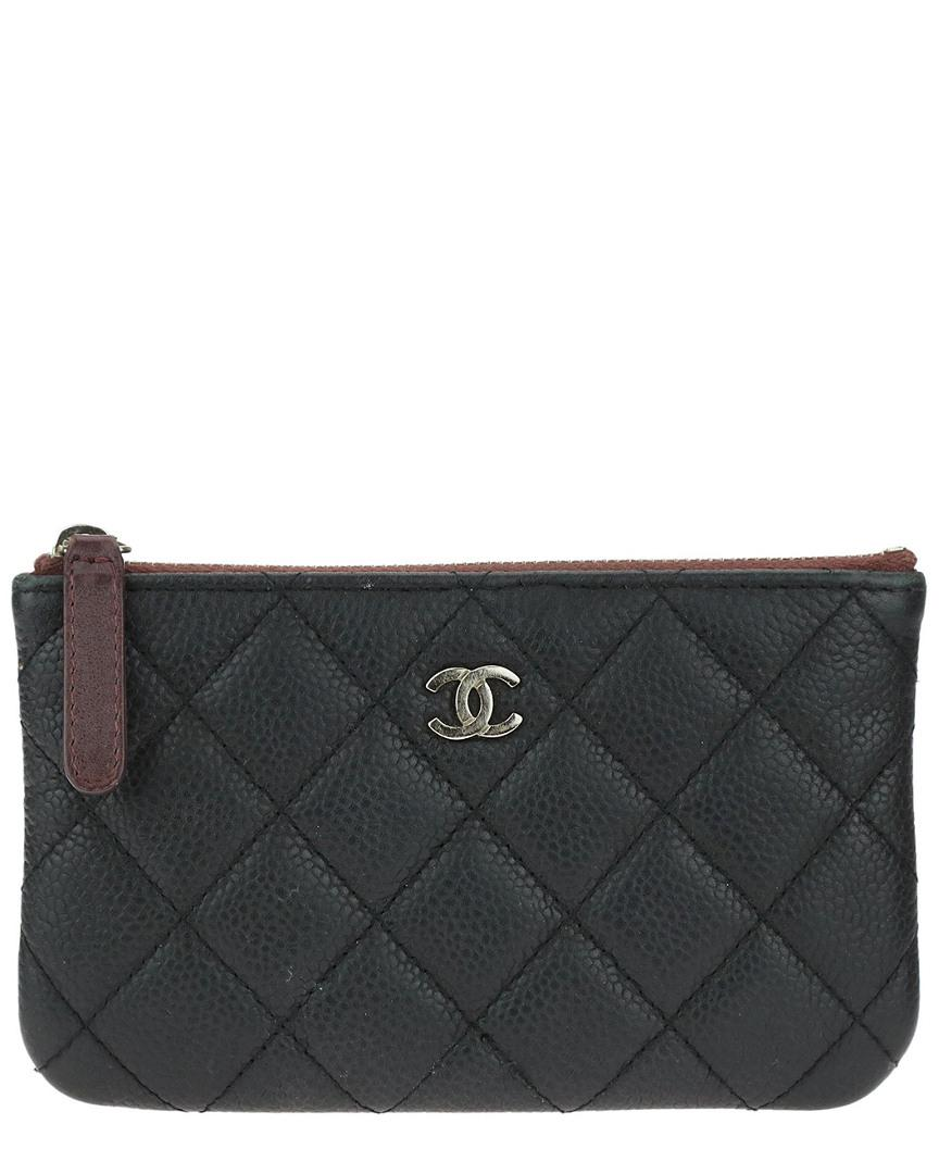 2d81f0e3a665 Chanel Black Quilted Caviar Leather Mini O-case in Black - Lyst