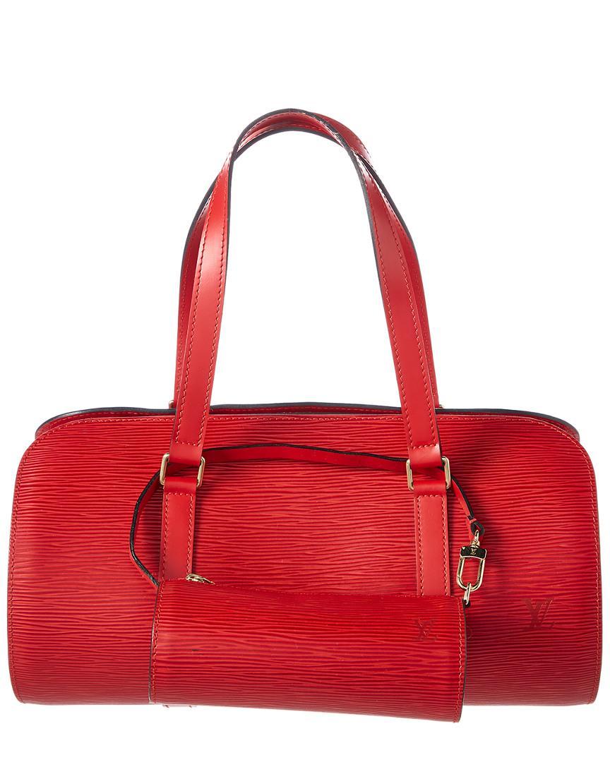 689d77d7cb4 Lyst - Louis Vuitton Castillian Red Epi Leather Soufflot in Red