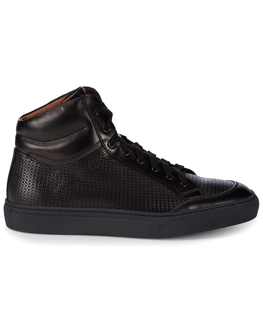 3d4a8b11dd Aquatalia Men s Asher Woven Waterproof Leather Sneaker in Black - Save  2.4193548387096797% - Lyst