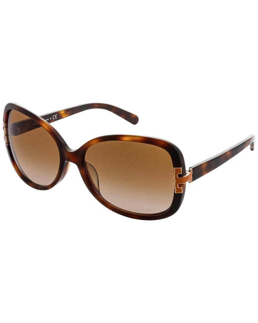 75e8efa89cb Lyst - Tory Burch Women s Ty7022a 59mm Sunglasses in Brown