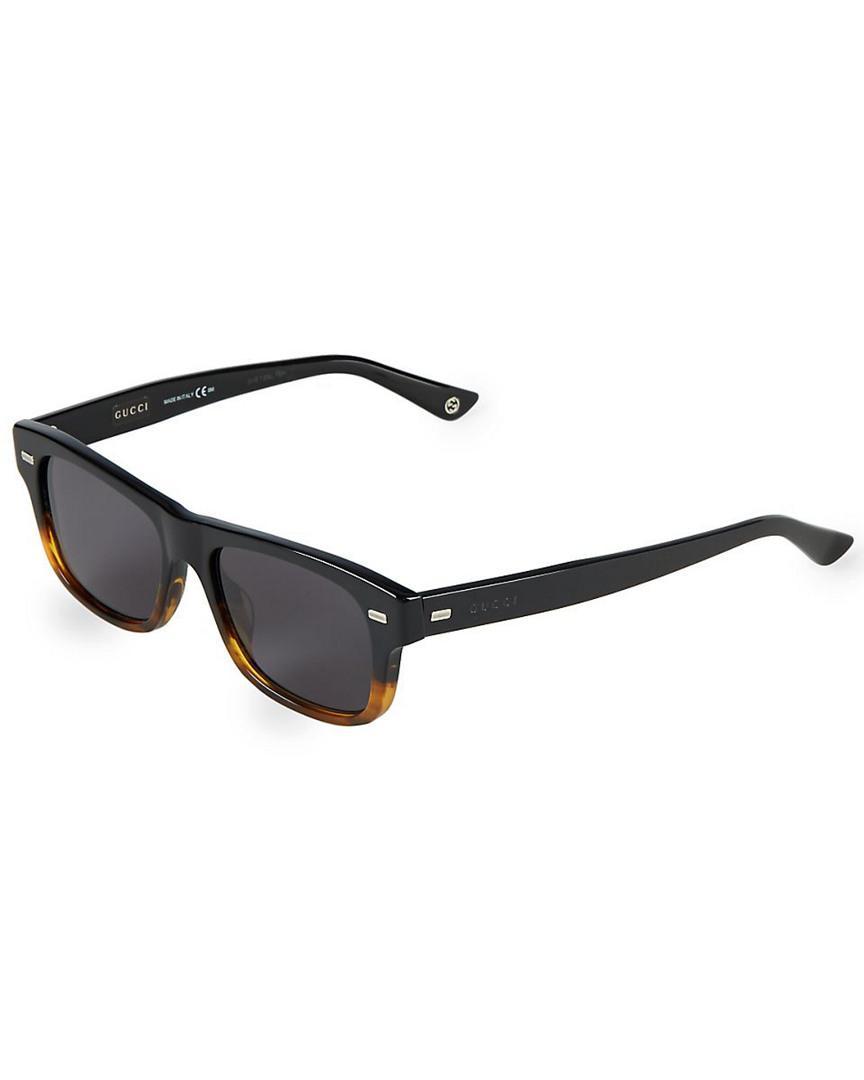 f82e77809b Gucci 53mm Square Sunglasses in Black for Men - Lyst