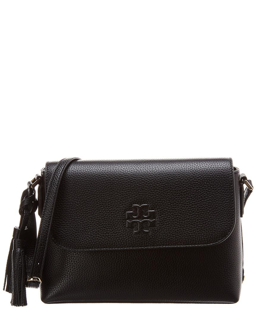 1df83e6e2 Lyst - Tory Burch Thea Leather Messenger Bag in Black