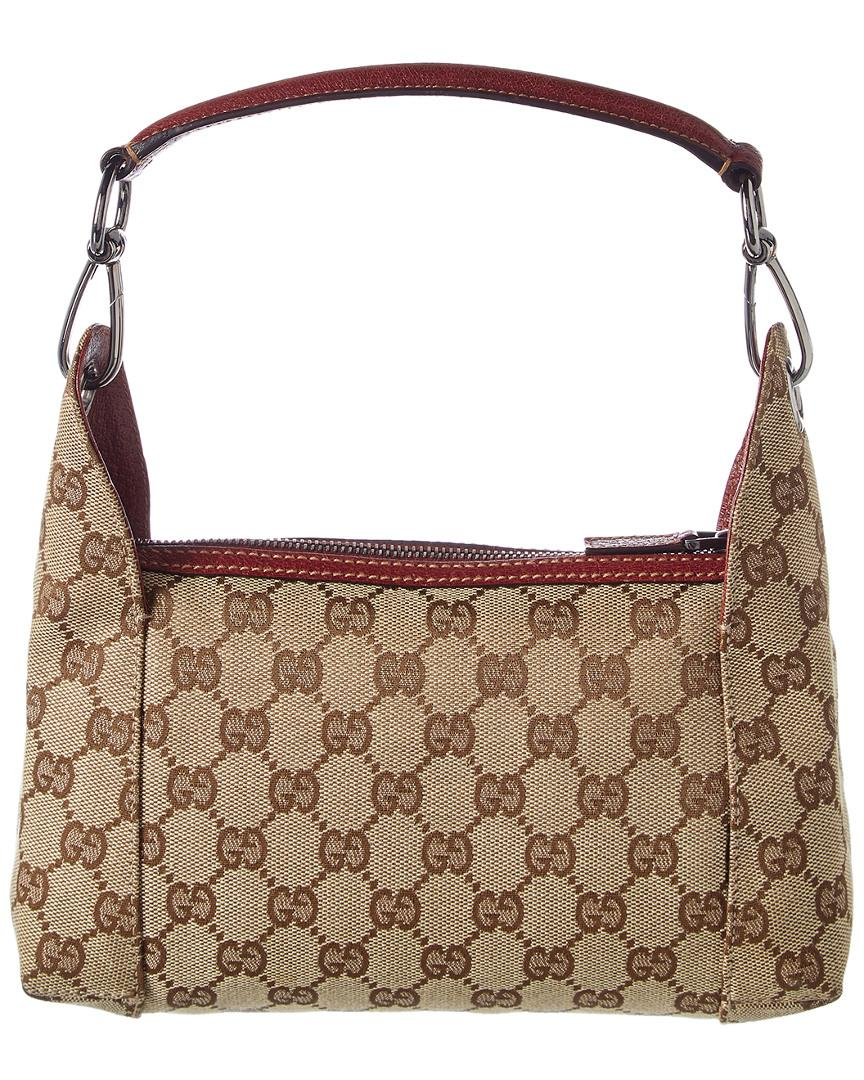 0c824c9372e Lyst - Gucci Brown GG Canvas   Brown Leather Hobo Bag in Brown