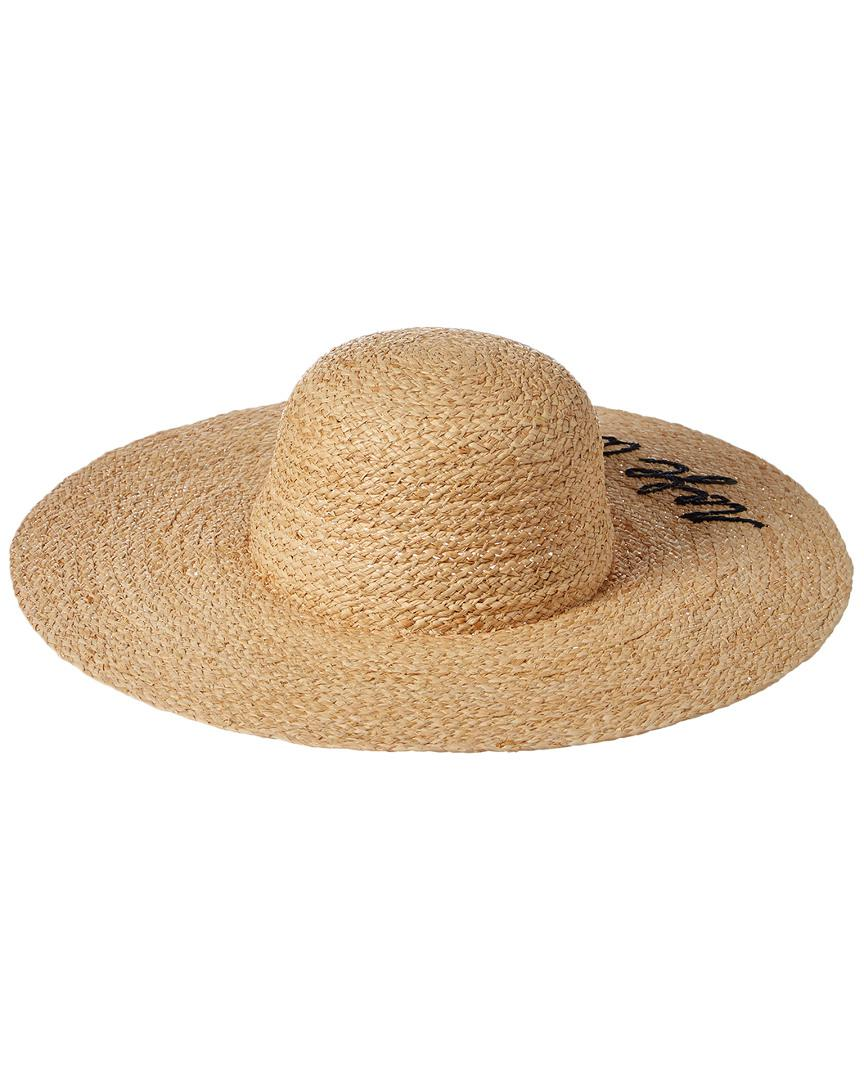 9c3a9681176 Lyst - Hat Attack What s Your Motto Straw Hat in Natural - Save 56%