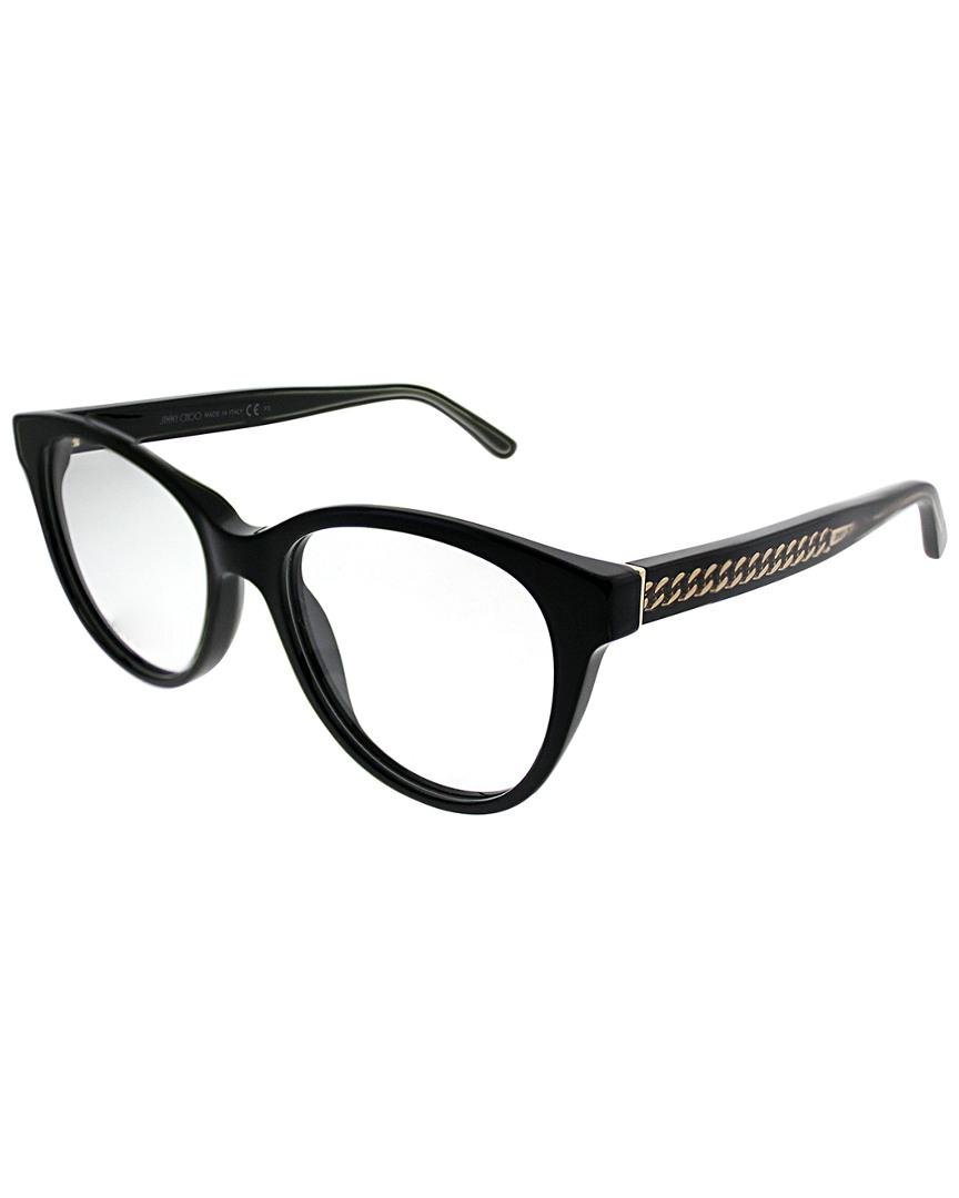 25e511afa0 Jimmy Choo Cat-eye 52mm Optical Frames in Black - Save 1% - Lyst