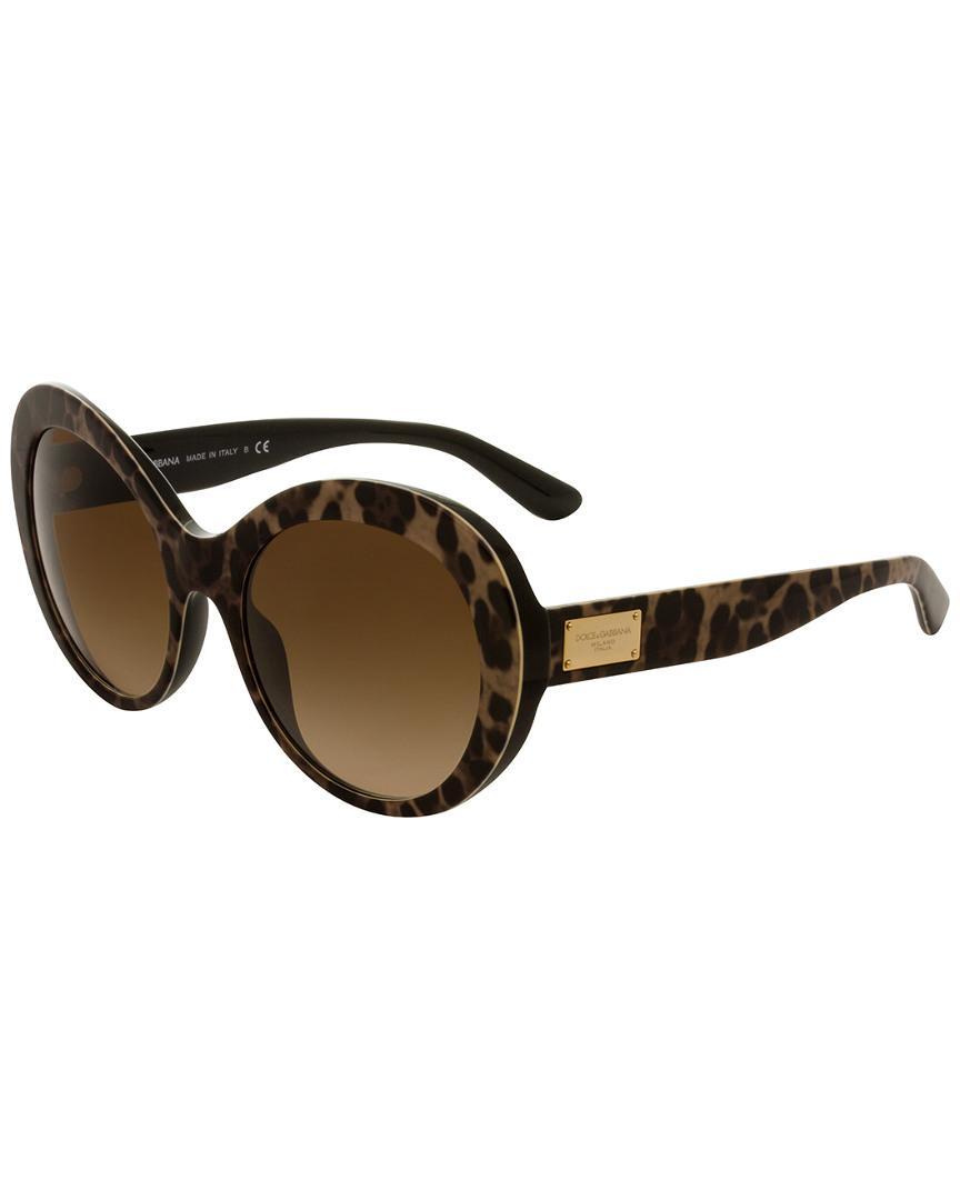 10eceb5b3b Lyst - Dolce   Gabbana Women s Dg4295 57mm Sunglasses in Brown