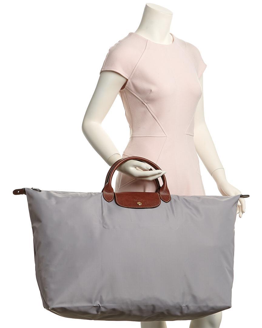 950962eabfef Longchamp Le Pliage Extra Large Nylon Travel Bag in Gray - Lyst