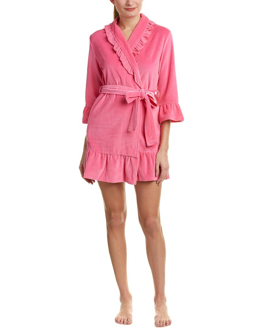ea7189aa04 Juicy Couture Velour Ruffle Robe in Pink - Lyst