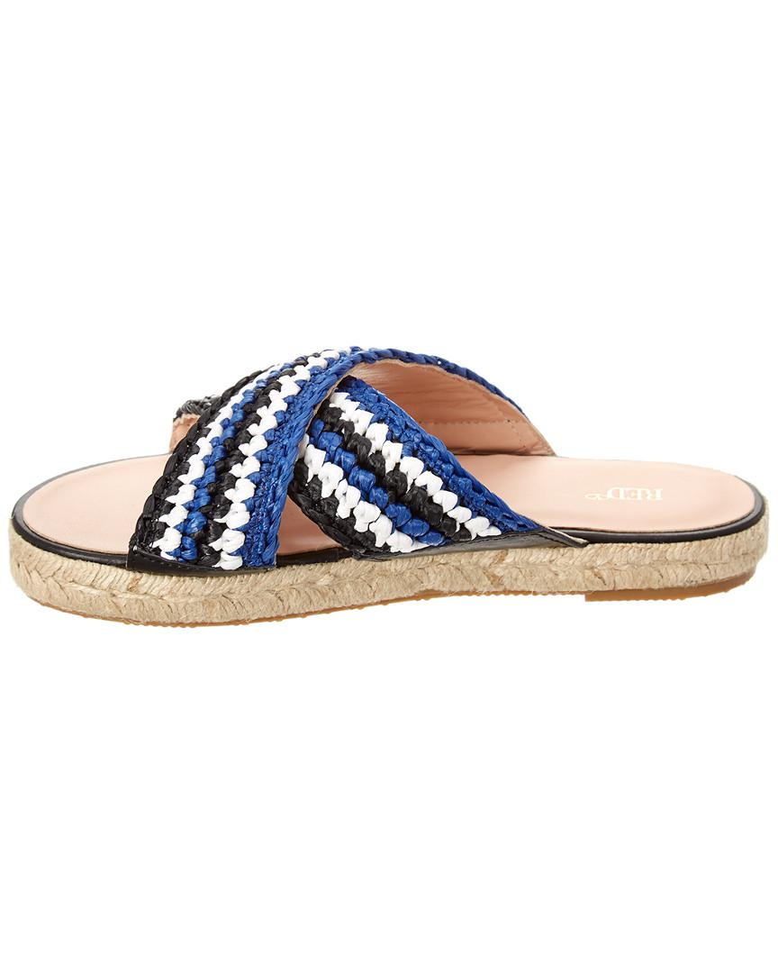 a9a9b3d7a1fe RED Valentino Espadrille Slide in Blue - Save 51% - Lyst