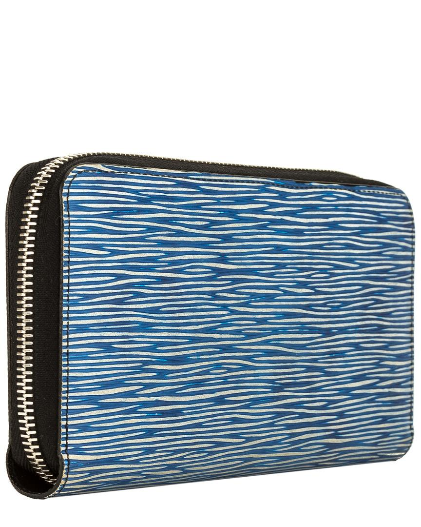f9bc80e61a8b Lyst - Louis Vuitton Blue Epi Leather Denim Zippy Wallet in Blue