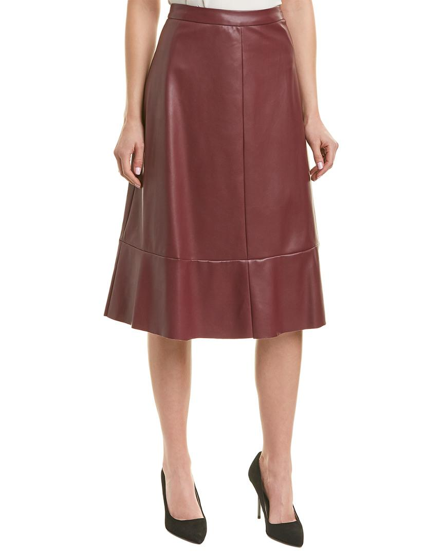 8a839665a9 Vince Camuto A-line Skirt in Red - Lyst