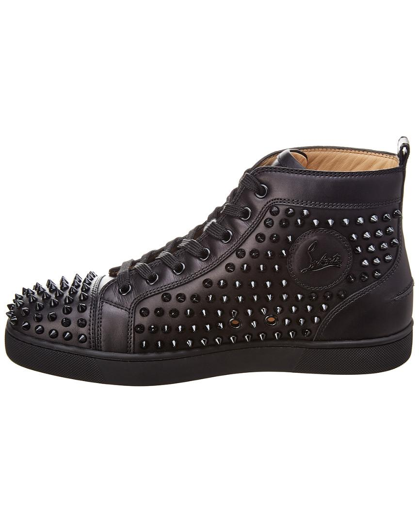 7de2a035b397 Lyst - Christian Louboutin Louis Leather High-top Sneaker in Black for Men