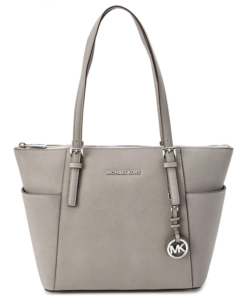 c6ee19c87bc0c MICHAEL Michael Kors. Women s Gray Michael Kors Jet Set East west Leather  Tote