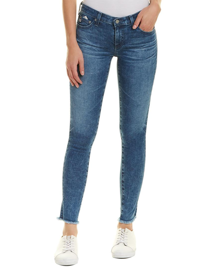 2d64588cce735 AG Jeans. Women's Blue The Legging 14 Years Suspended Super Skinny Ankle Cut