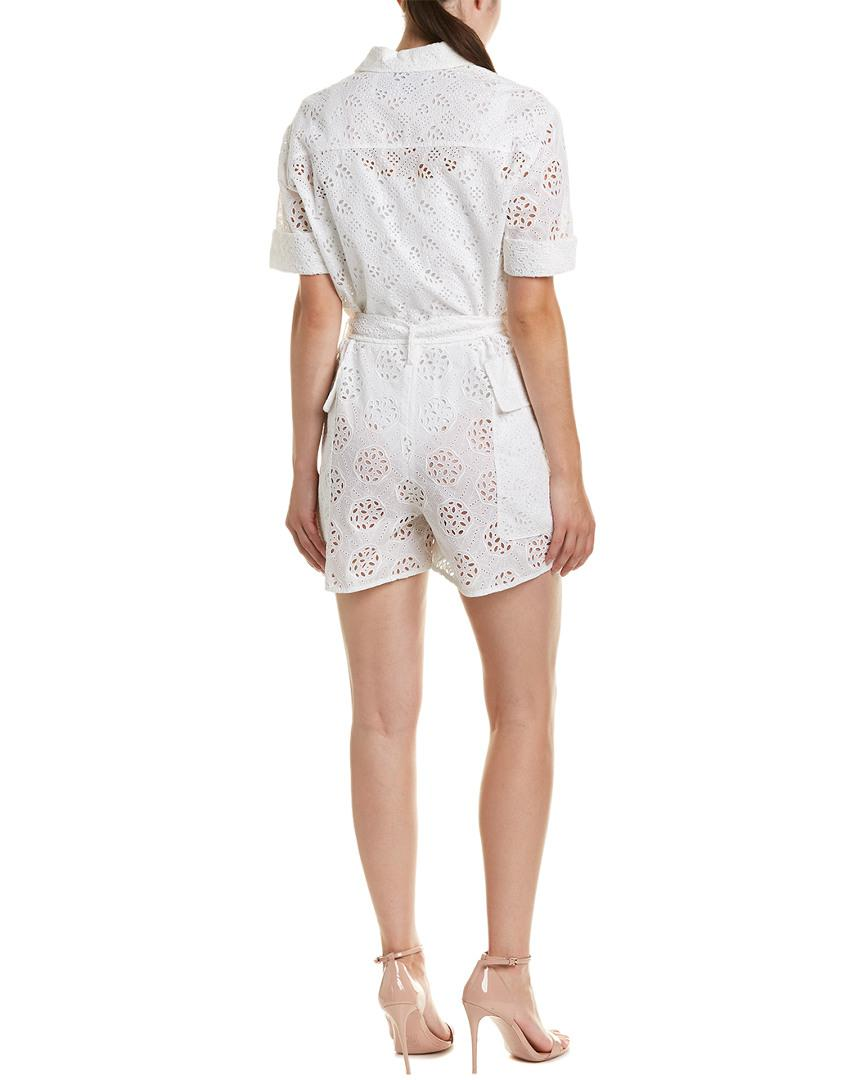 5db7aa1f69 Lyst - Valentino Romper in White - Save 32%