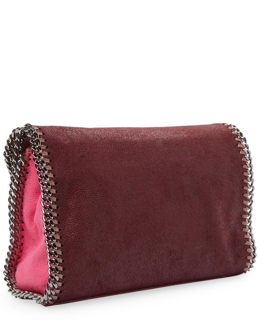 7e1e1767d98b Lyst - Stella Mccartney Mini Falabella Shaggy Deer Colorblock Crossbody in  Pink - Save 0.17543859649123306%