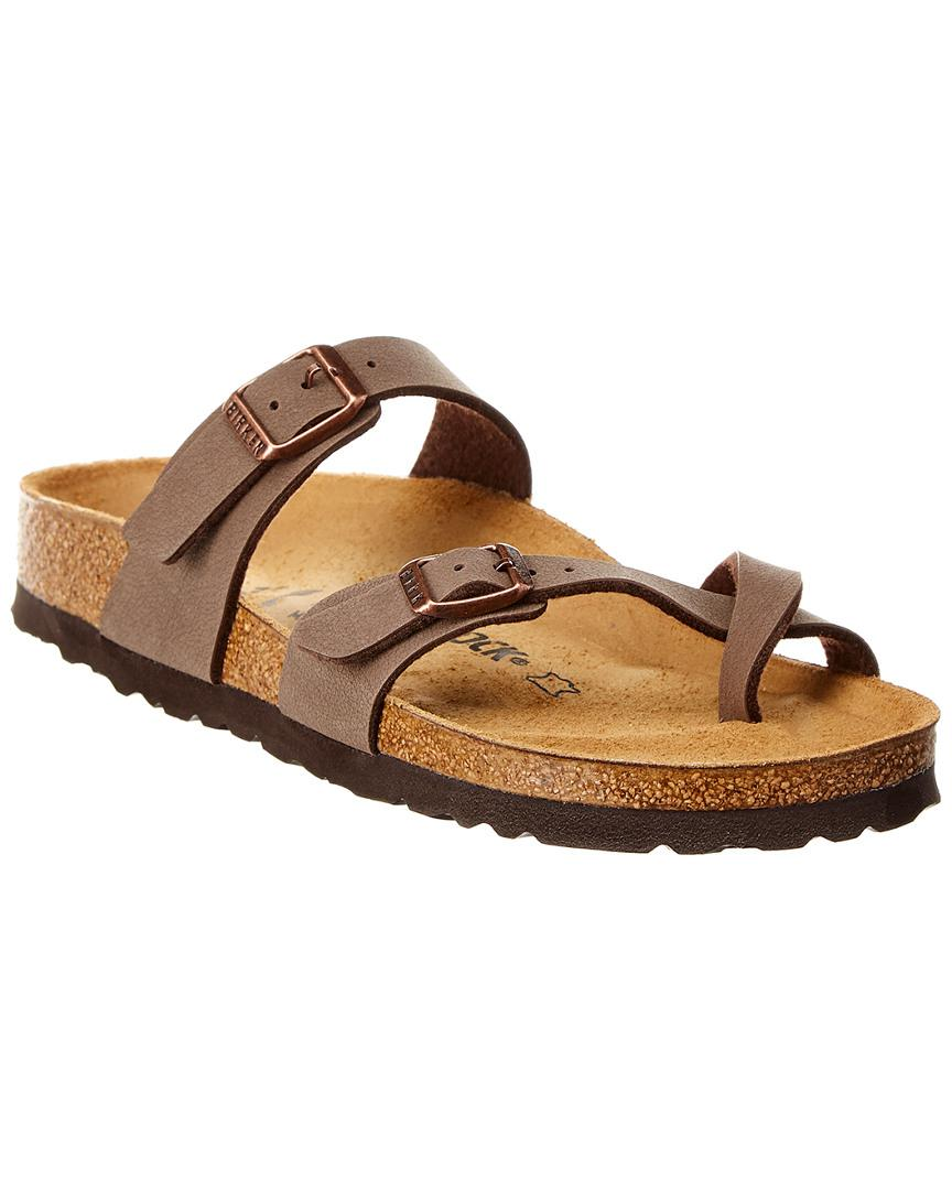 c4aa506b75d2 Lyst - Birkenstock Mayari Birkibuc Leather Sandal in Brown - Save 5%