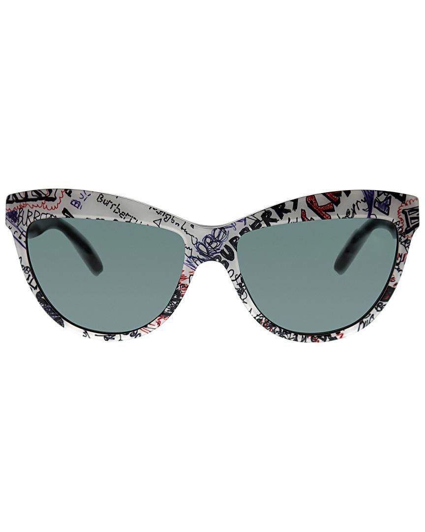 0f07d4ac627d Lyst - Burberry Cat-eye 56mm Sunglasses