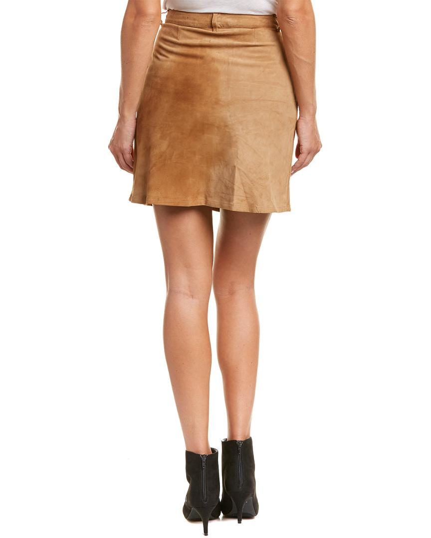 dcdce1ce8b Lyst - Etienne Marcel Suede A-line Skirt in Brown - Save 57.5%