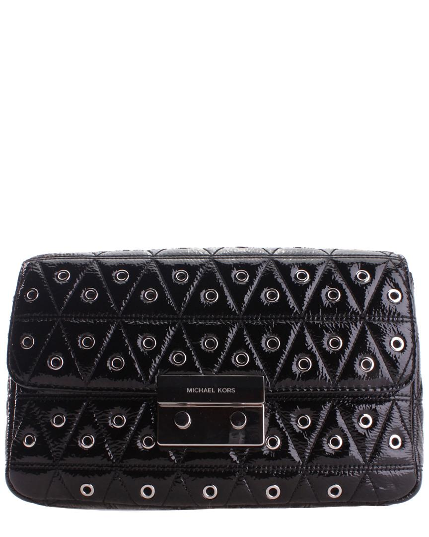 3843decae2ab Michael Kors - Black Sloan Leather Shoulder Bag - Lyst. View fullscreen