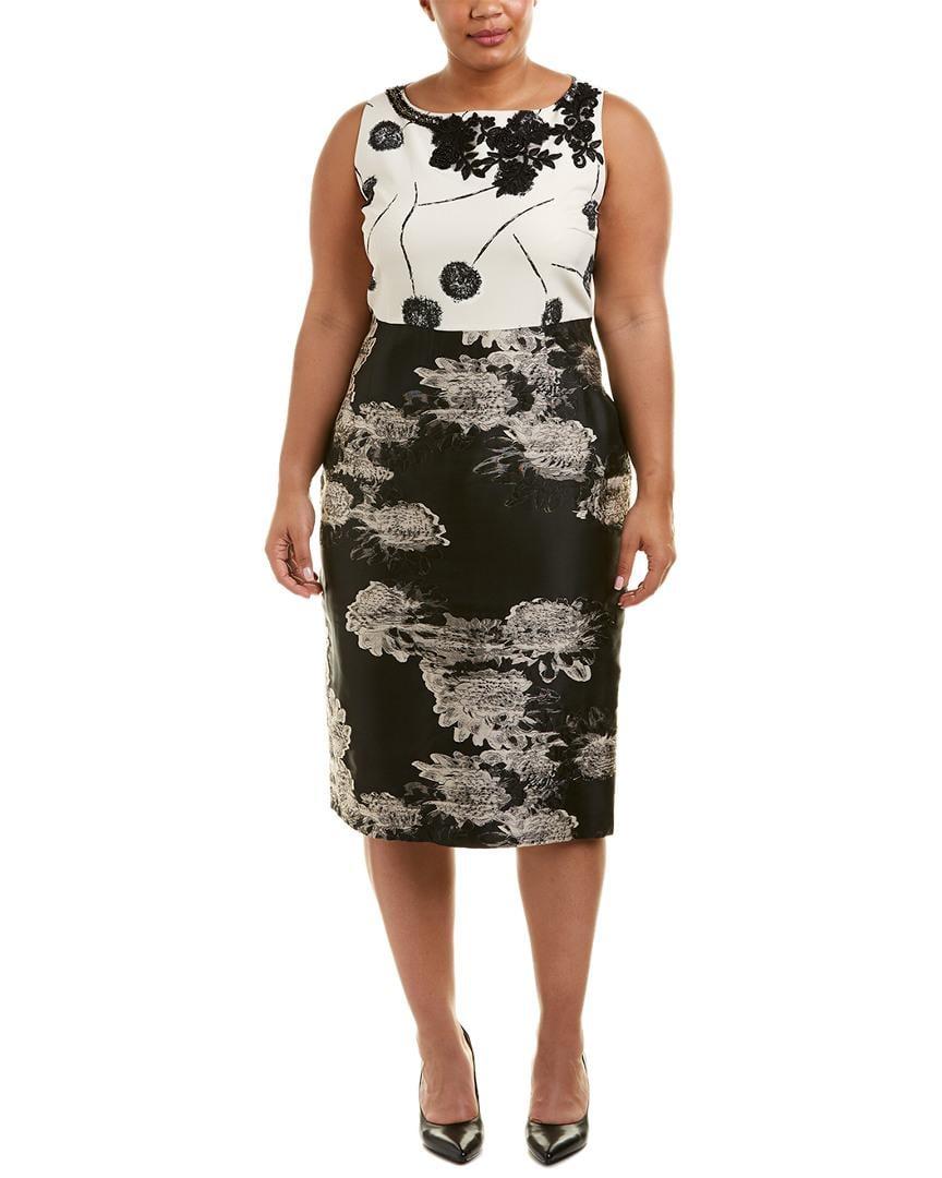 0bb68adae8 Lyst - Marina Rinaldi Plus Sheath Dress in Black