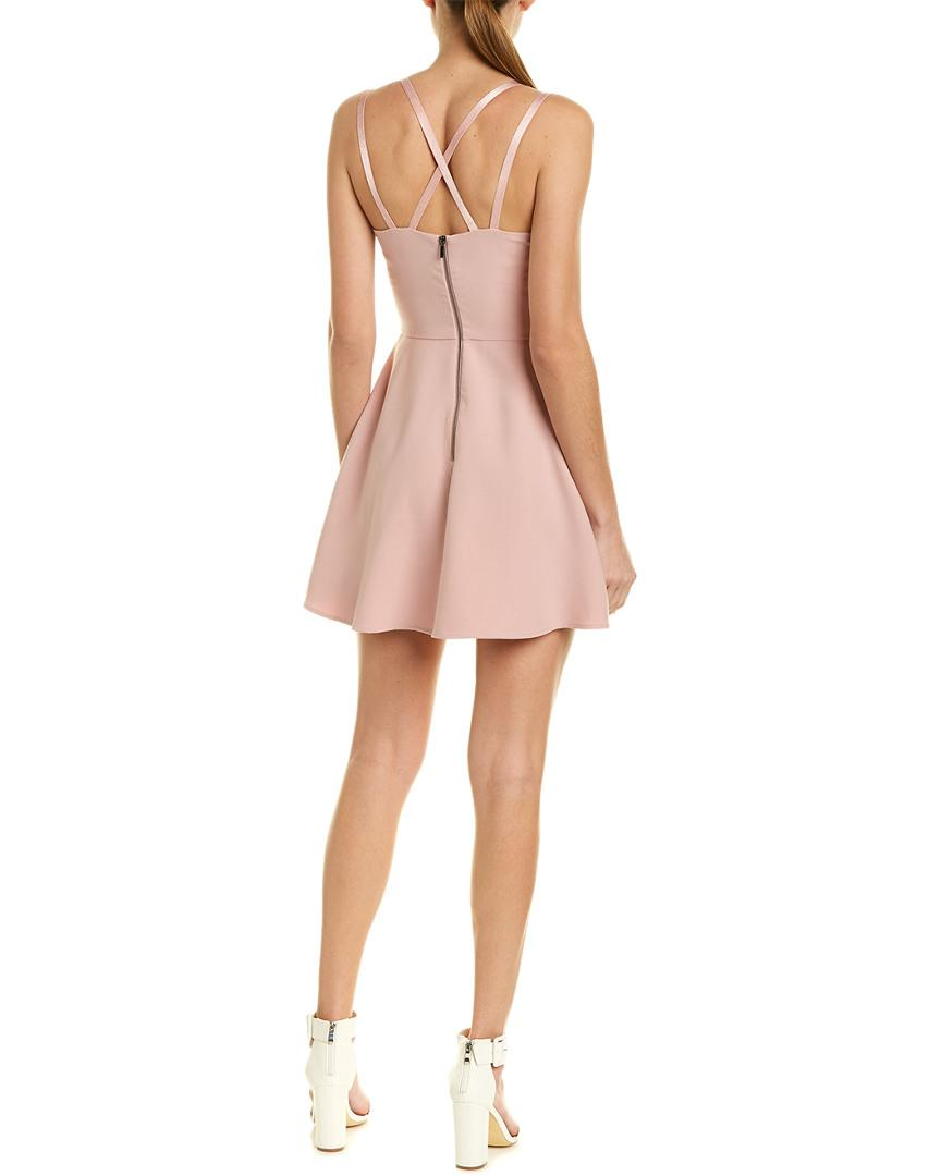 12cfd3d7f01 Lyst - French Connection Whisper Light Strappy A-line Dress in Pink