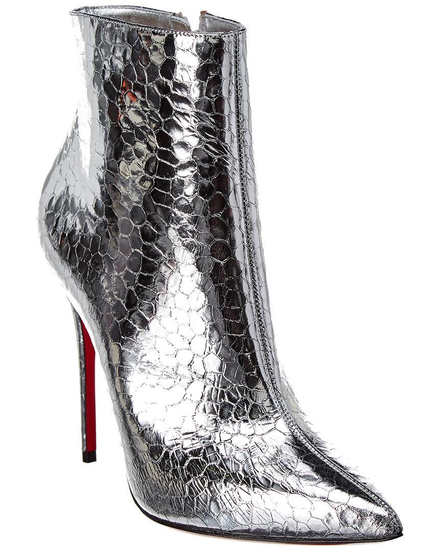 3f860c8f612 Christian Louboutin So Kate 100 Metallic Leather Bootie in Metallic ...