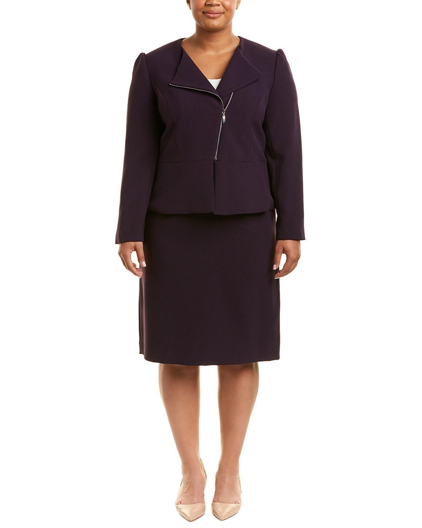 fa928432e9f1 Tahari Tahari Asl Plus 2pc Skirt Suit in Purple - Lyst