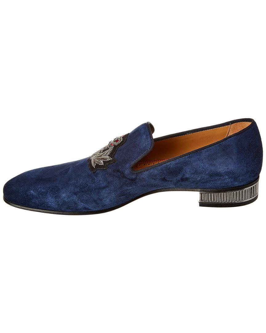 8551097ec544 Lyst - Christian Louboutin Suede Loafer in Blue for Men - Save 5%