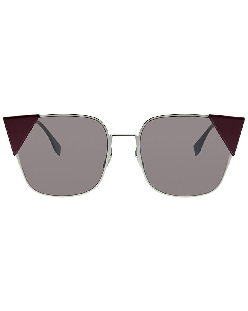 13c9867cba62 Lyst - Fendi Cat-eye 55mm Sunglasses in Gray