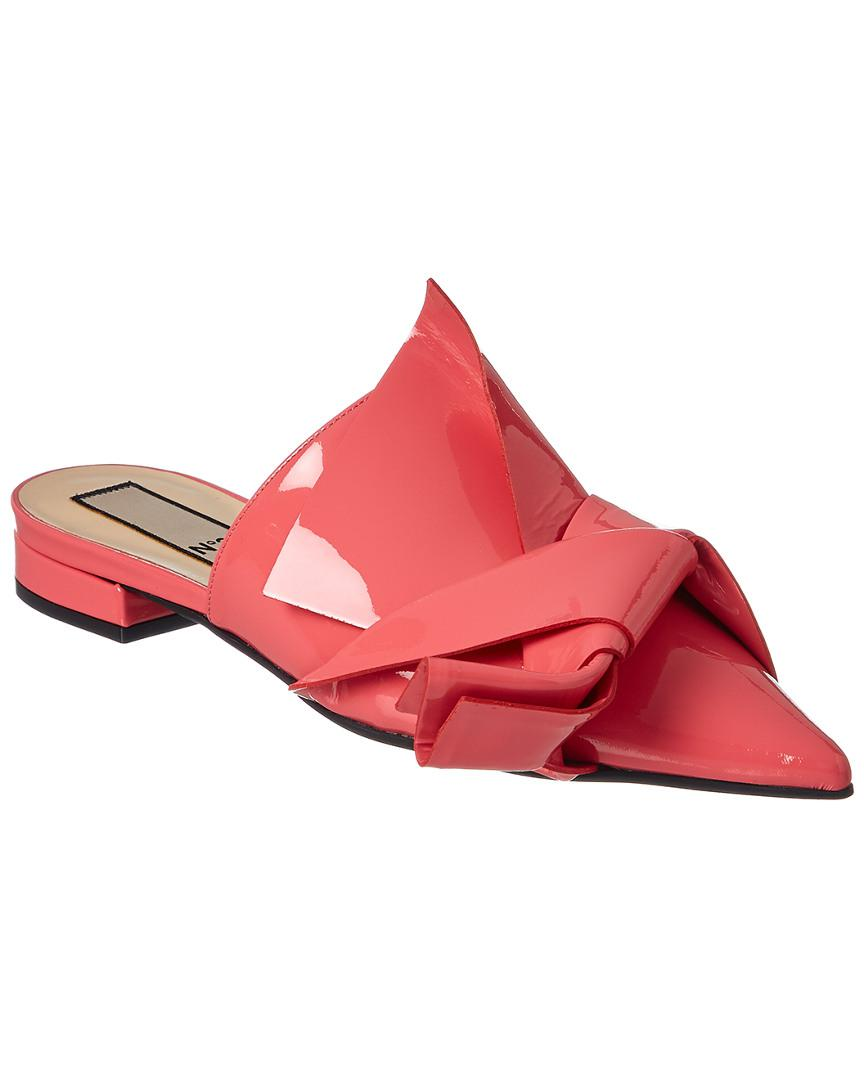 c262609e3918b Lyst - N°21 No. 21 Patent Flat Bow Mule in Pink - Save 48%
