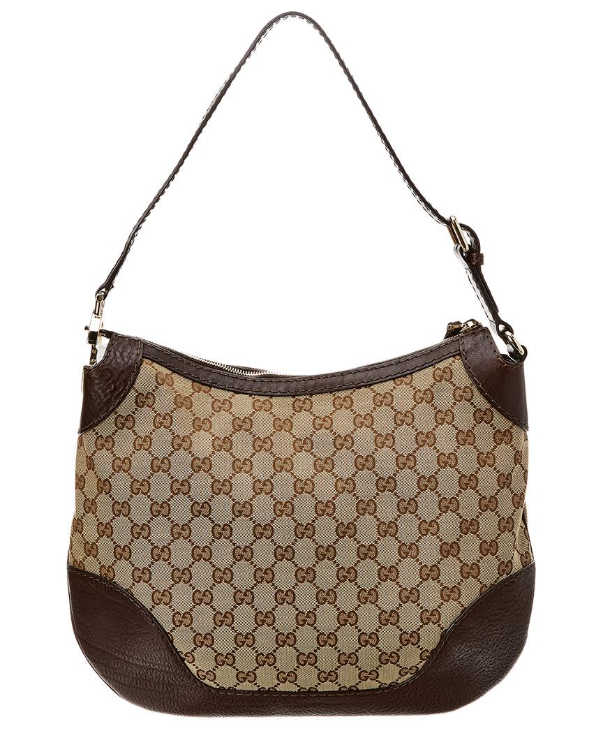20614cddf Gucci - Brown GG Canvas & Leather Charlotte Hobo - Lyst. View fullscreen