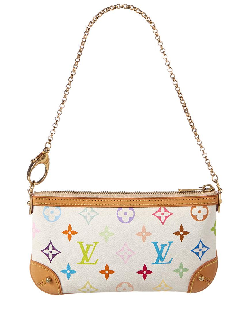 e90085507ae5 Louis Vuitton White Multicolore Monogram Canvas Pochette Milla Mm - Lyst