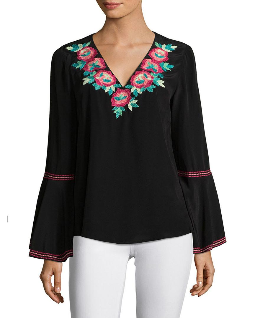 03d4c5a10f458c Lyst - Nanette Nanette Lepore Toscana Silk Top in Black - Save ...