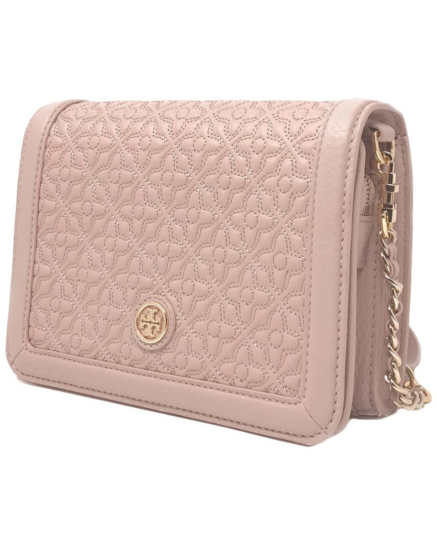 27025f56e930 Lyst - Tory Burch Bryant Quilted Leather Crossbody in Pink