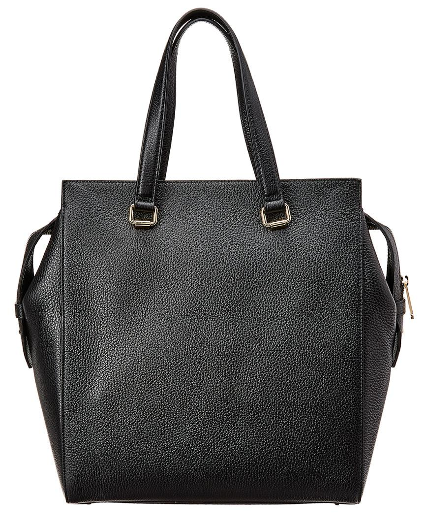 7569f09e5fe4 Versace Pebbled Leather Tote Bag Black in Black - Save 25% - Lyst