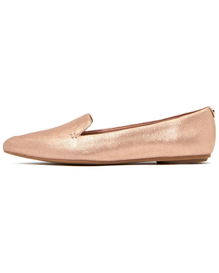 394e9347f43 Lyst - Taryn Rose Faye Powder Metallic Flat in Pink
