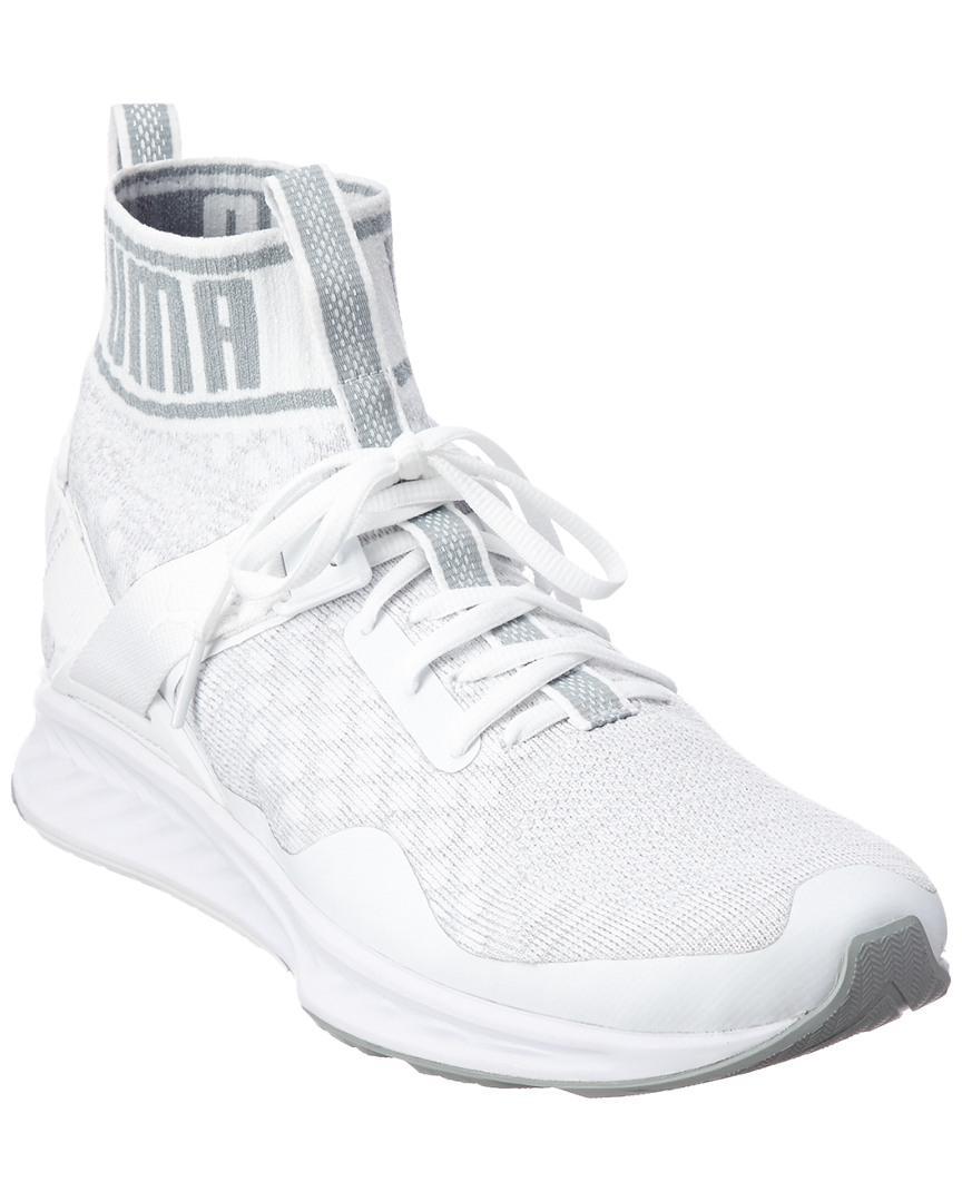 Puma Ignite Evoknit Sneaker in White for Men - Lyst 8729da0e7