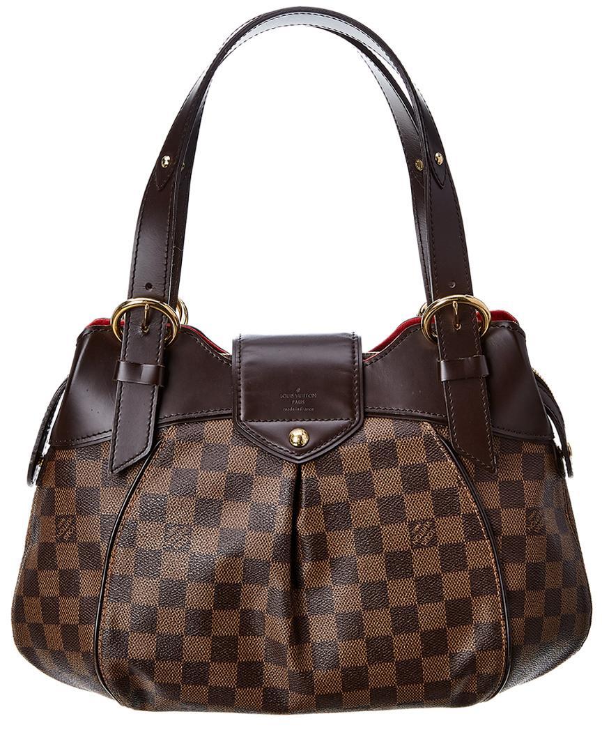 ede46e721d52 Lyst - Louis Vuitton Damier Ebene Canvas Sistina Pm in Brown