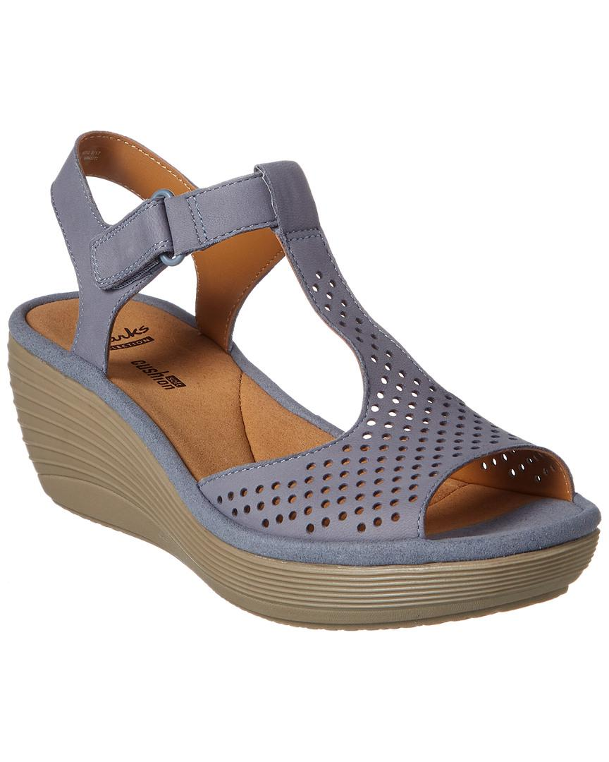 dc3522fa57a6 Lyst - Clarks Collection Reedly Waylin Wedge Sandal in Blue