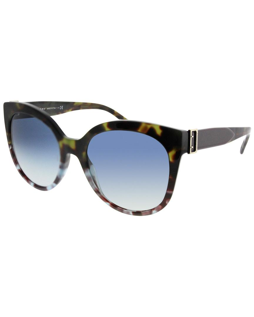 d67e4d310aeb Lyst - Burberry 55mm Sunglasses in Blue