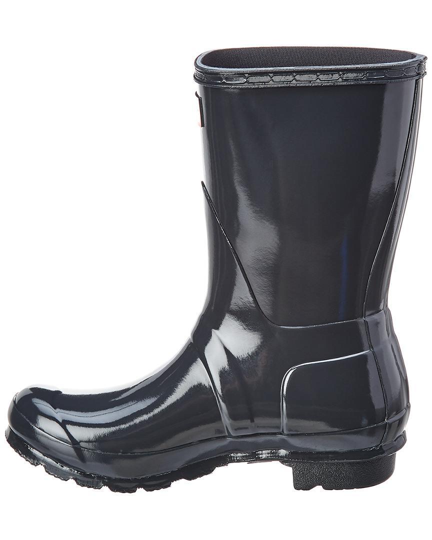 c82db6e4ce7721 HUNTER Original Short Gloss Rain Boot in Gray - Lyst