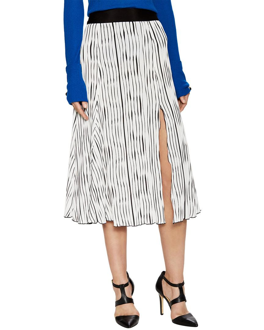 c94a84066f Prabal Gurung Jersey Pleated Skirt in White - Lyst