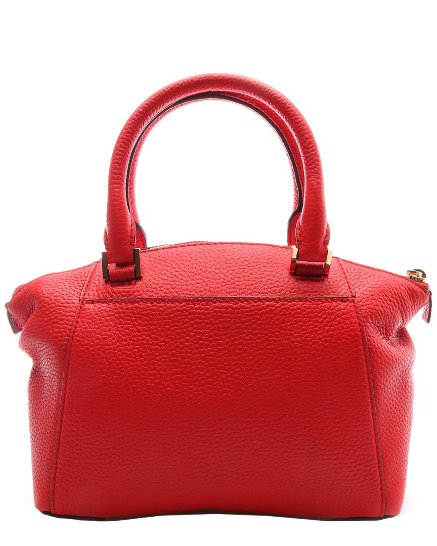 f4520f577ff6a Lyst - Michael Kors Riley Leather Satchel in Red