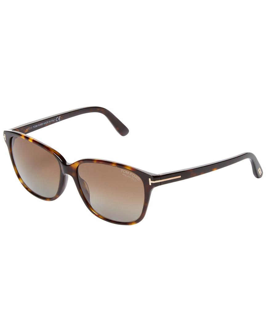9d3cda0a332 Tom Ford 59mm Rounded Square Sunglasses in Brown for Men - Lyst
