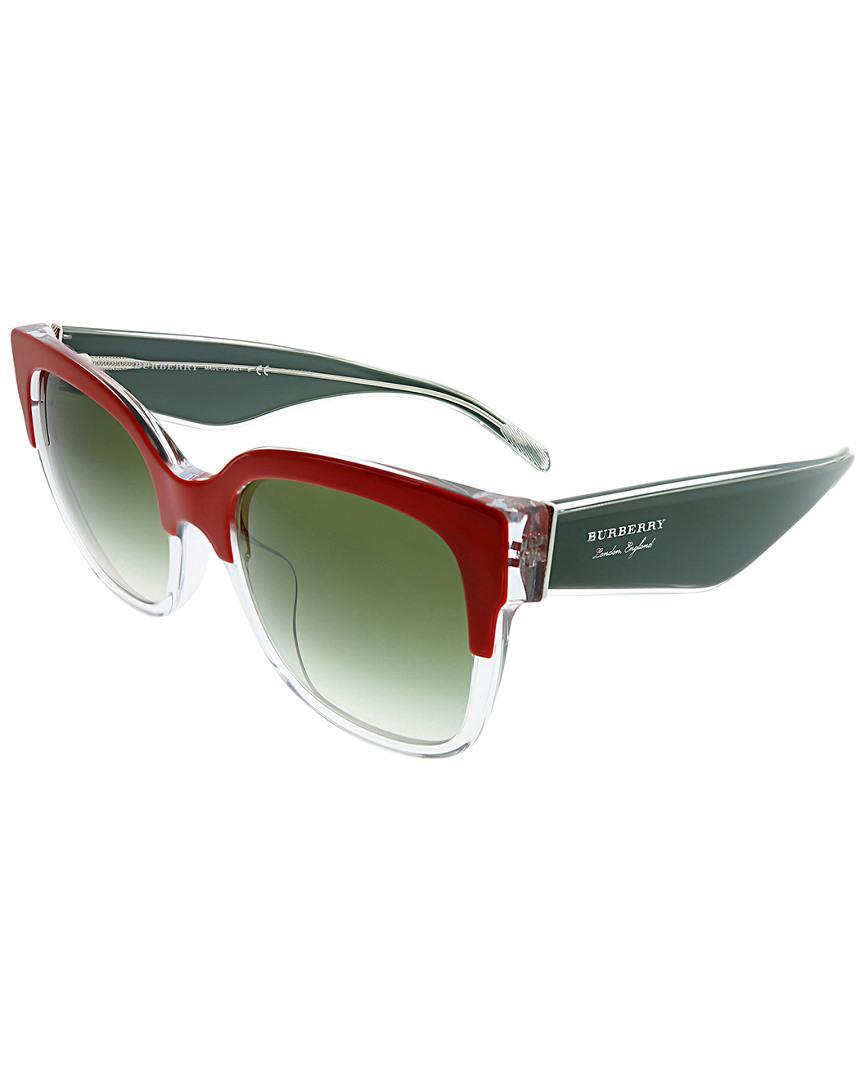 b207142c38f Burberry - Multicolor Square 56mm Sunglasses - Lyst. View fullscreen