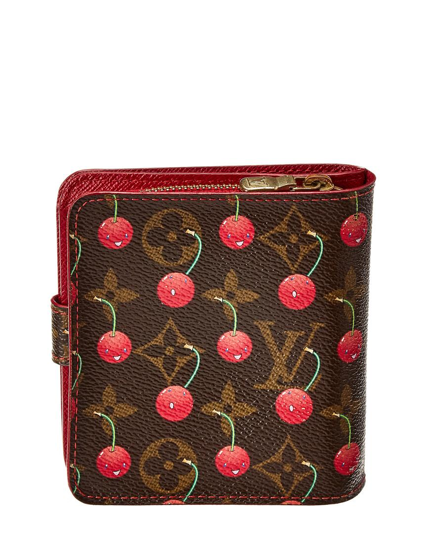 8158814ba1ae Lyst - Louis Vuitton Limited Edition Takashi Murakami Cherry Blossom  Monogram Canvas Zippy Compact Wallet in Red