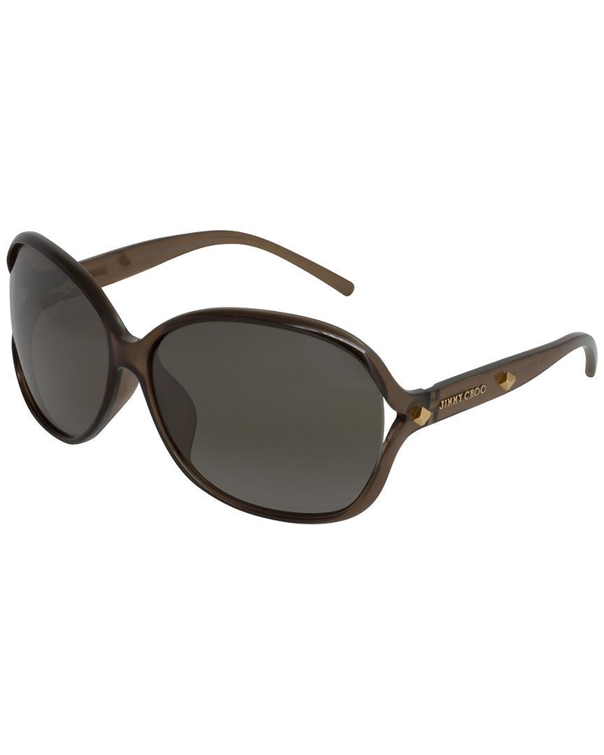 fae5e0c0267f1 Lyst - Jimmy Choo Sol f s 64mm Sunglasses