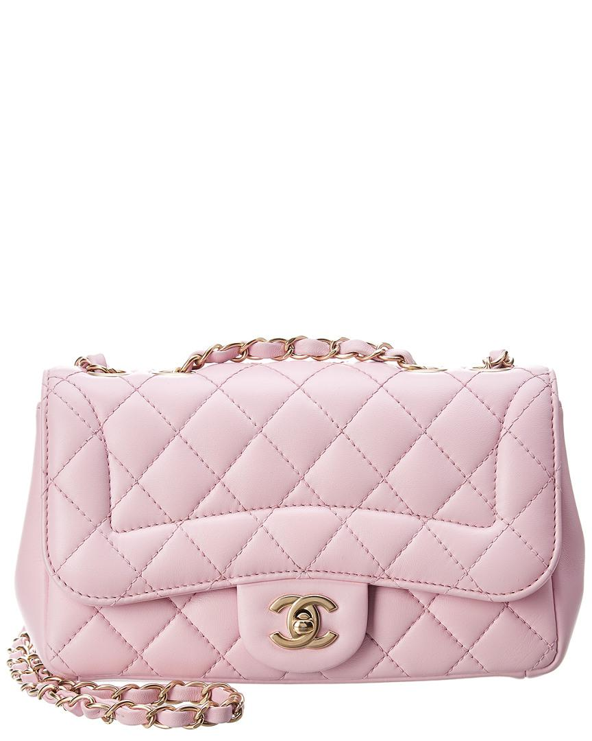 Chanel Pink Quilted Lambskin Leather Mademoiselle Chic Small Flap ... 0cc028c62a