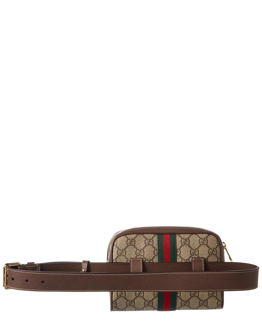 191d507ed6c Lyst - Gucci Ophidia Small GG Supreme Canvas Belt Bag in Brown